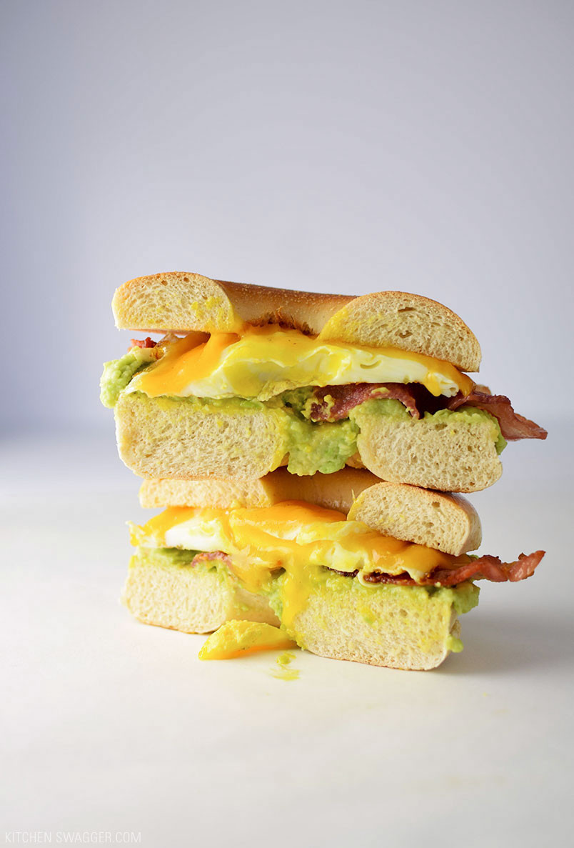 Breakfast Sandwich Recipe  Bacon Egg and Avocado Breakfast Sandwich Recipe