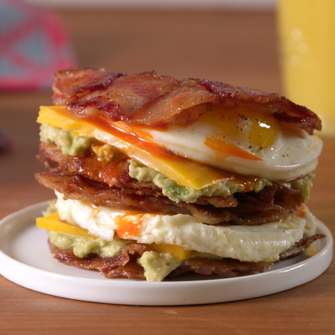 Breakfast Sandwich Recipe  Best Bacon Weave Breakfast Sandwich Recipe How to Make
