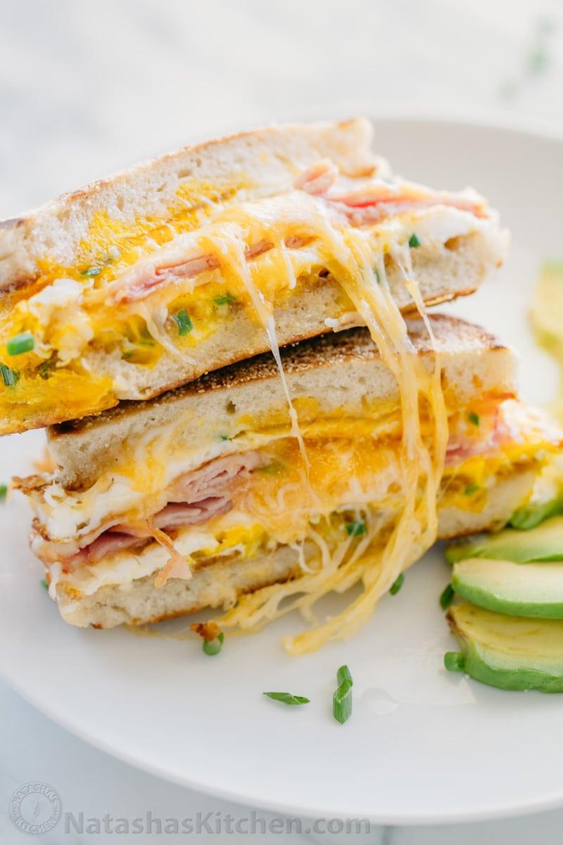 Breakfast Sandwich Recipes  Breakfast Sandwich e Pan Breakfast Natasha s Kitchen