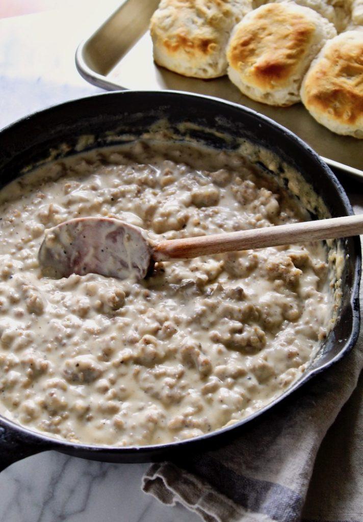 Breakfast Sausage Gravy  Sausage Gravy and Biscuits Recipe