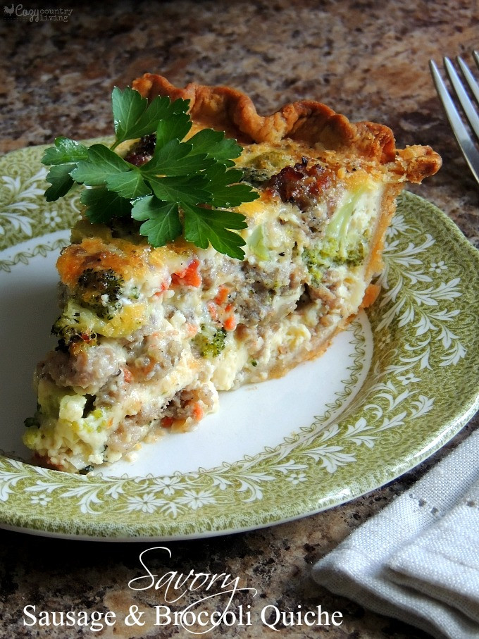 Breakfast Sausage Recipes For Dinner  broccoli quiche bisquick