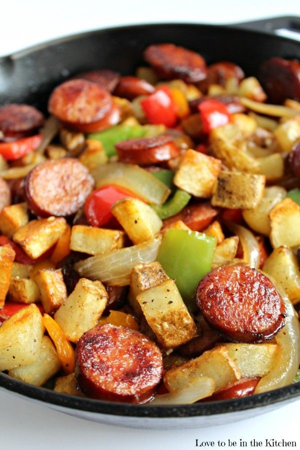 Breakfast Sausage Recipes For Dinner  Smoked Sausage Hash Looking for a fast and flavorful