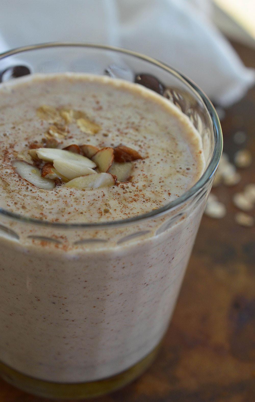 Breakfast Shake Recipes  Almond Milk Breakfast Smoothie Recipe WonkyWonderful