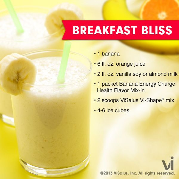 Breakfast Shake Recipes  Break Bliss Vi shake Recipe