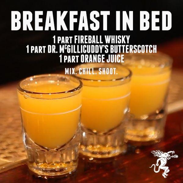 Breakfast Shot Recipe  Drink Recipes Fireball Cinnamon Whisky
