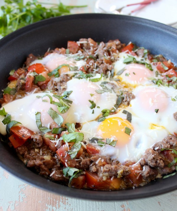 Breakfast Skillet Recipe  Italian Turkey & Egg Breakfast Skillet WhitneyBond