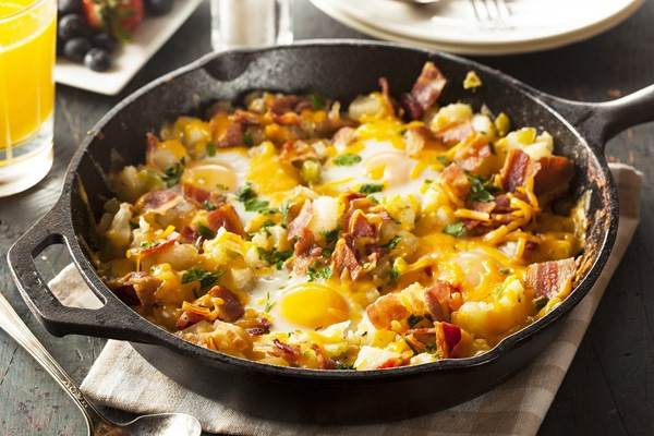 Breakfast Skillet Recipe  Bacon Egg and Potato Breakfast Skillet