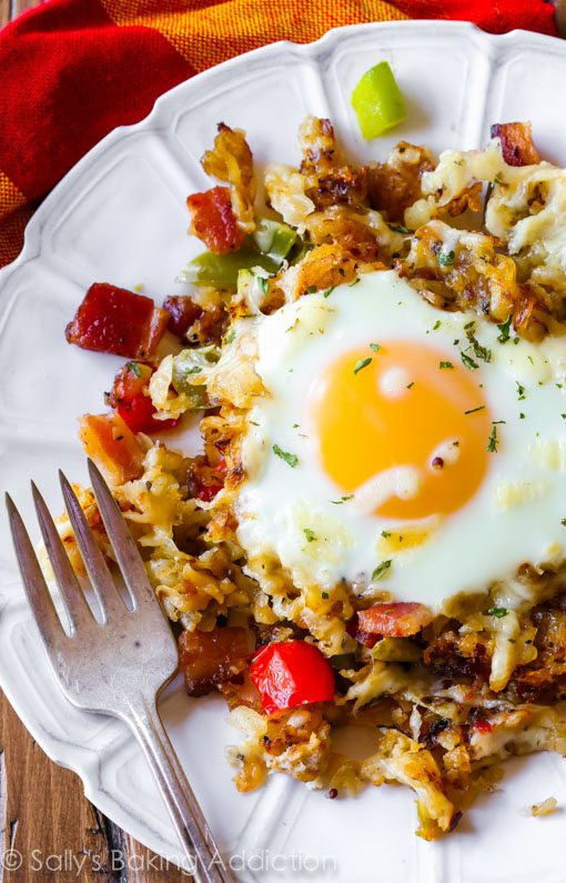 Breakfast Skillet Recipe  Crispy Hash Breakfast Skillet Sallys Baking Addiction