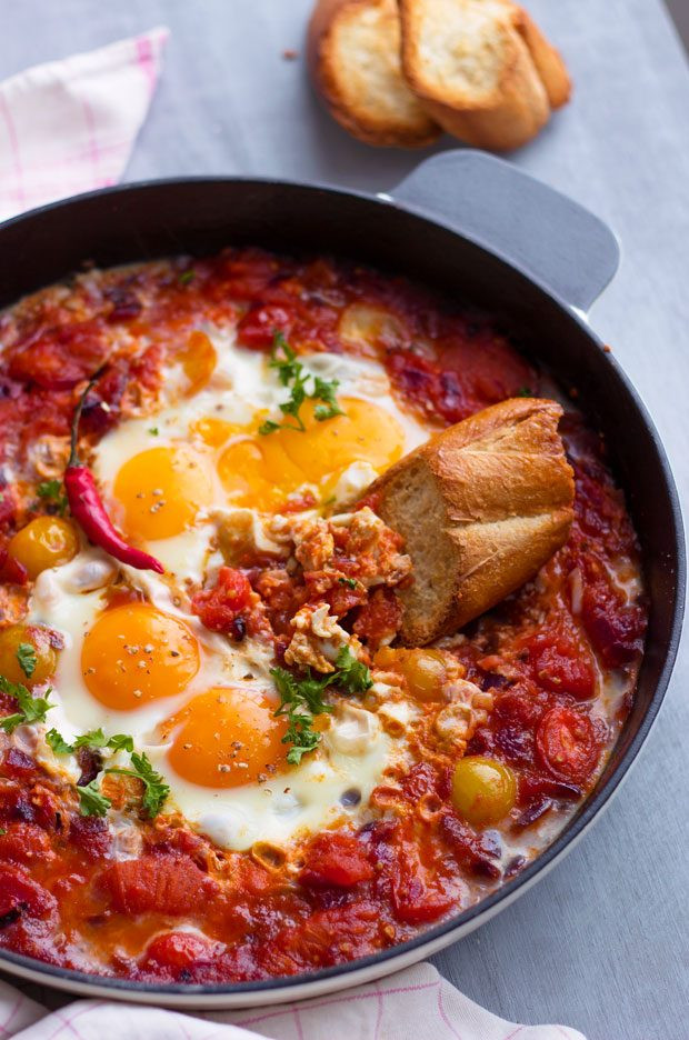 Breakfast Skillet Recipe  Eggs Tomato Breakfast Skillet Recipe — Eatwell101