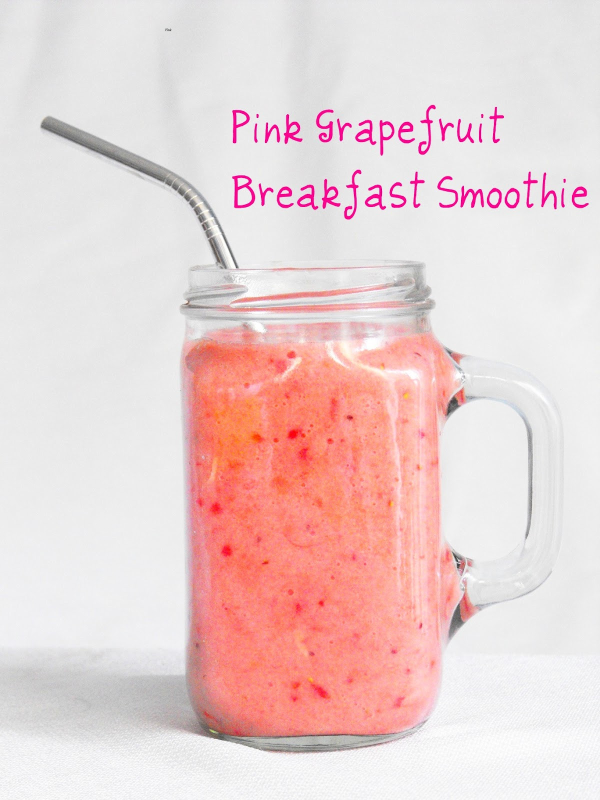 Breakfast Smoothie Recipes  Pink Grapefruit Smoothie Sweet and Tart Breakfast Smoothie