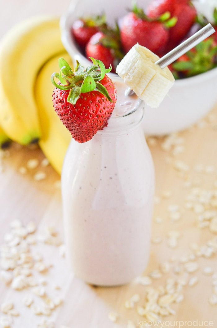 Breakfast Smoothie Recipes  Strawberry Banana Oatmeal Breakfast Smoothie Recipe Know