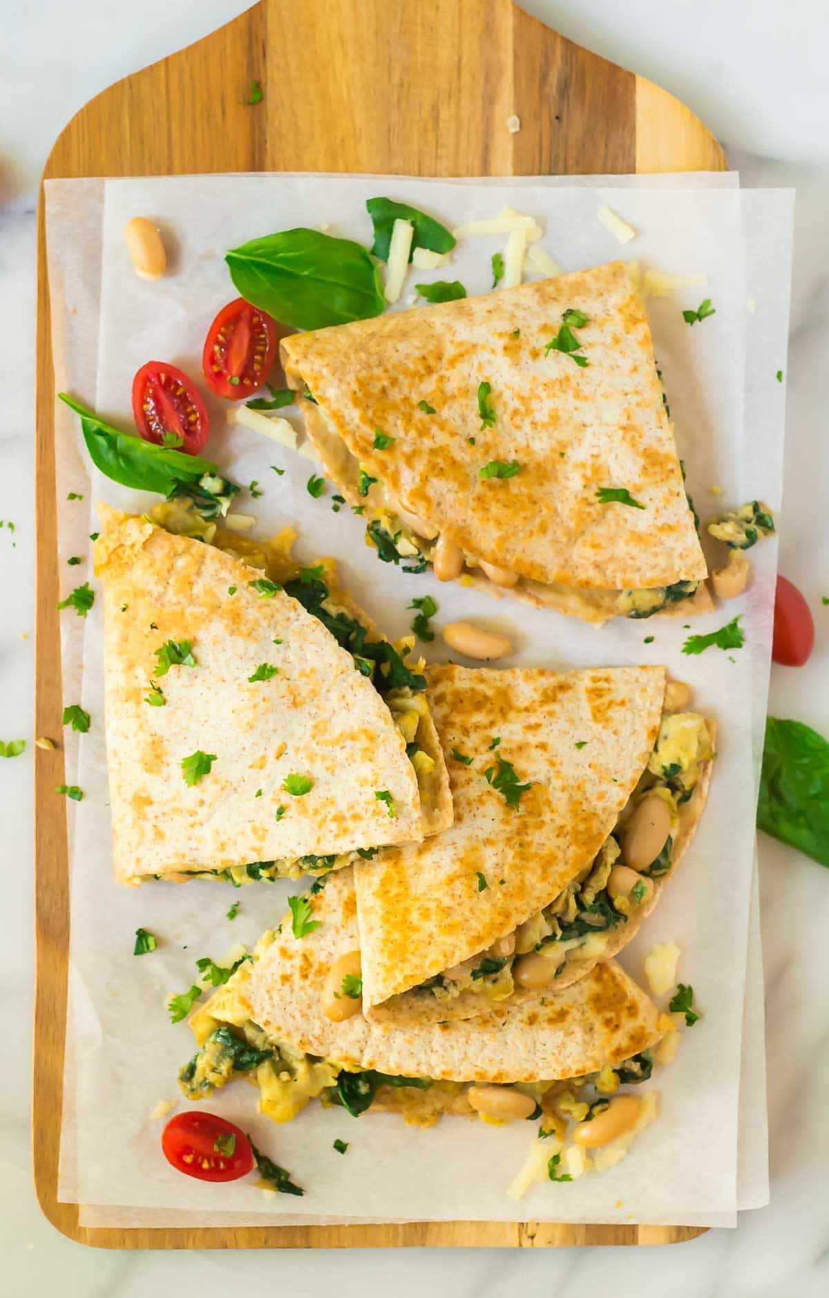 Breakfast To Go Recipes  Breakfast Quesadilla with Cheese Spinach and White Beans