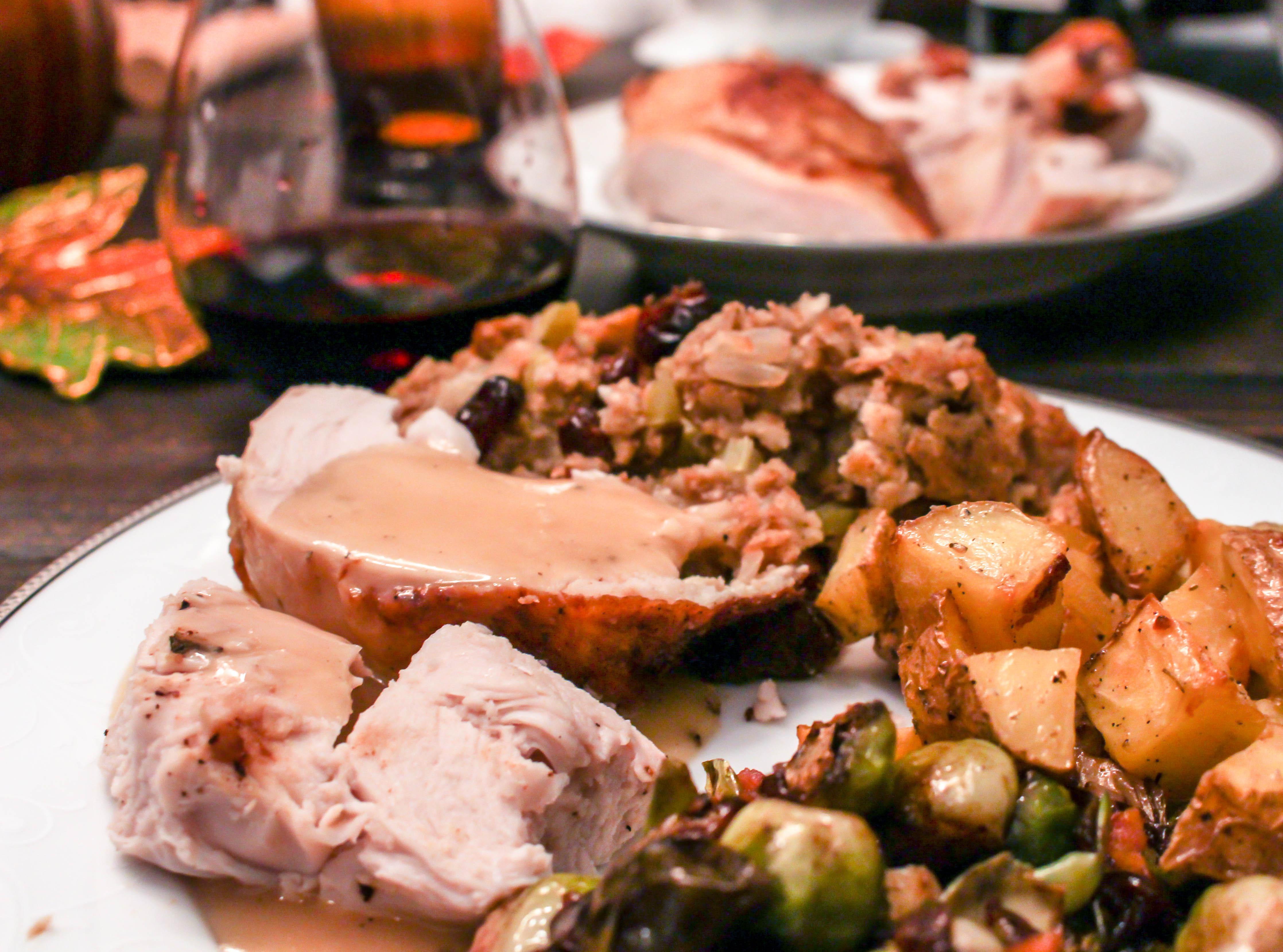 Brine For Turkey Breast  Brined & Roasted Turkey Breast with White Wine Truffle Gravy