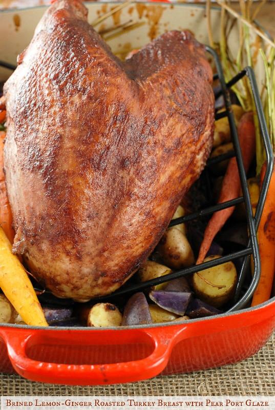 Brine For Turkey Breast  Brined Roast Turkey Breast Recipe — Dishmaps