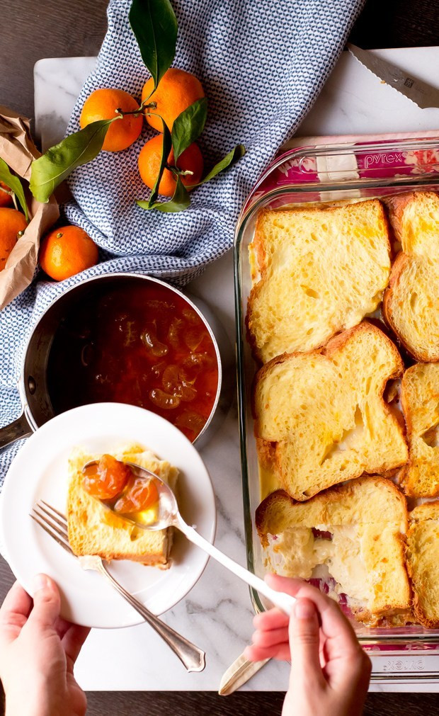 Brioche French Toast Casserole  Brioche French Toast Casserole The Gourmet Gourmand
