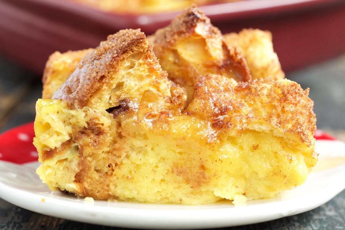 Brioche French Toast Casserole  Panettone Eggnog French Toast Bake Recipe