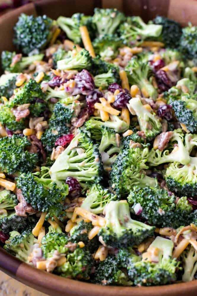 Broccoli And Bacon Salad  Broccoli Salad Sugar Spun Run