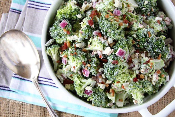 Broccoli And Bacon Salad  Bacon and Blue Broccoli Salad Southern Bite