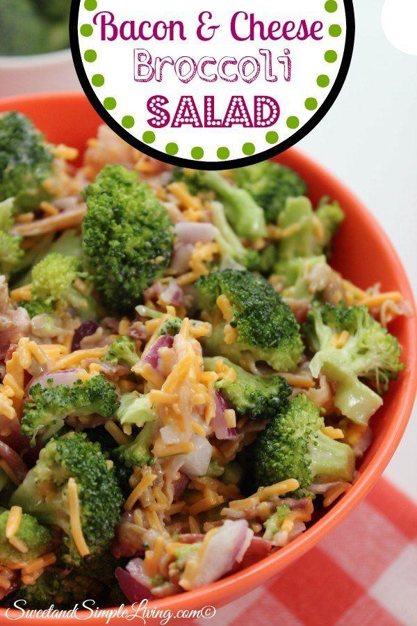 Broccoli And Bacon Salad  Bacon and Cheese Broccoli Salad Sweet and Simple Living