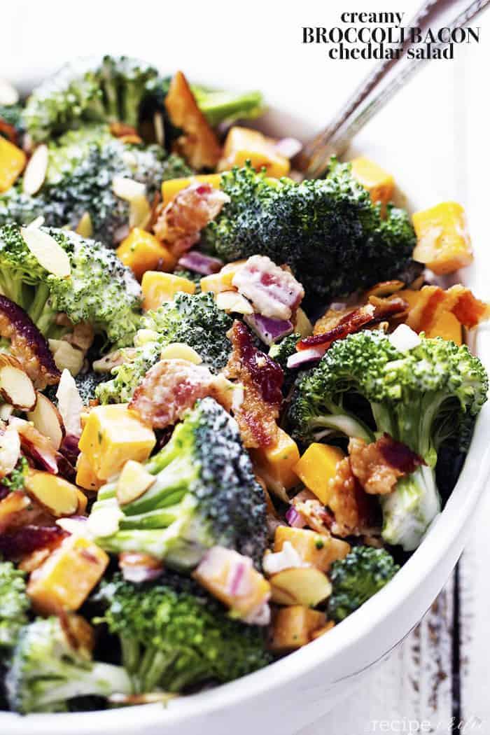 Broccoli And Bacon Salad  Creamy Broccoli Bacon and Cheddar Salad