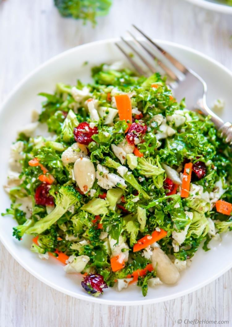 Broccoli And Cauliflower Salad  Cauliflower and Broccoli Detox Salad Recipe