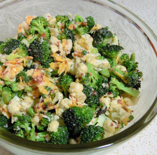 Broccoli And Cauliflower Salad  Broccoli cauliflower Salad Recipe Food