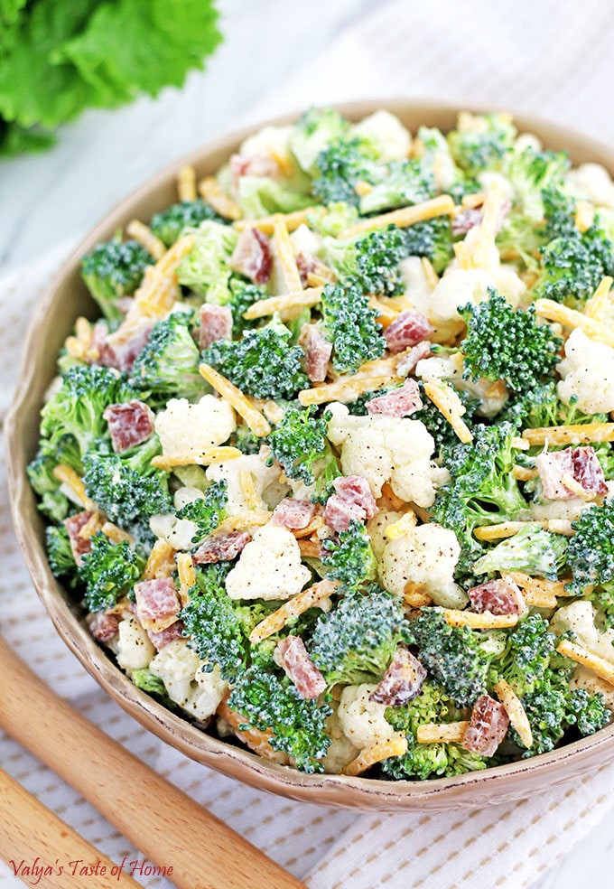 Broccoli And Cauliflower Salad  Broccoli and Cauliflower Salad Recipe Valya s Taste of Home