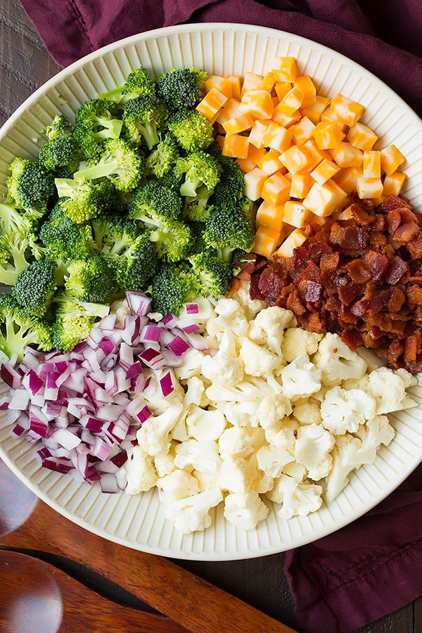 Broccoli And Cauliflower Salad  broccoli cauliflower salad dressing recipe