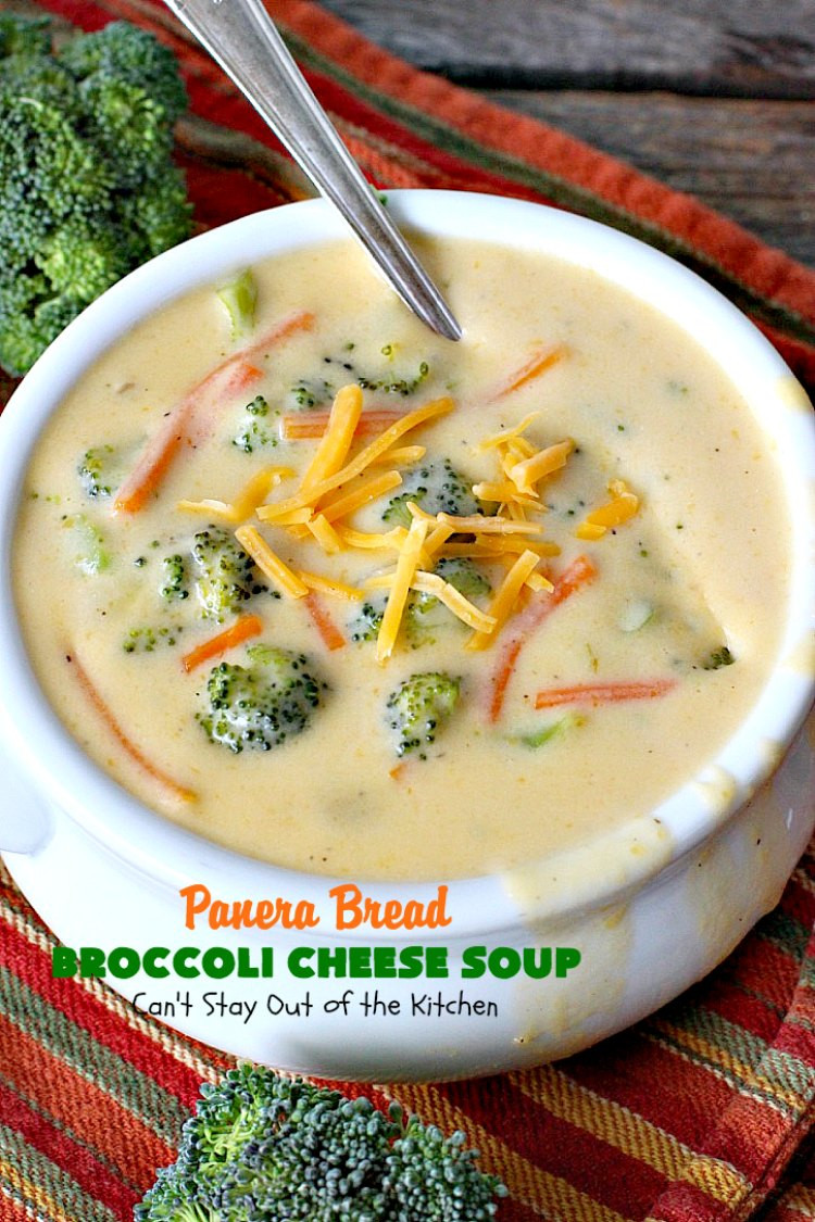 Broccoli And Cheese Soup Recipe  Panera Bread Broccoli Cheese Soup Can t Stay Out of the