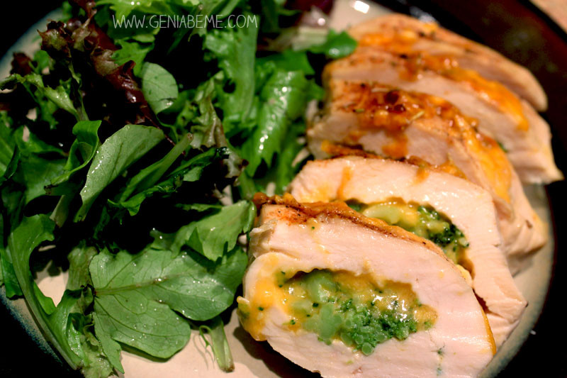 Broccoli And Cheese Stuffed Chicken  21 Day Fix Broccoli and Cheese Stuffed Chicken Recipe