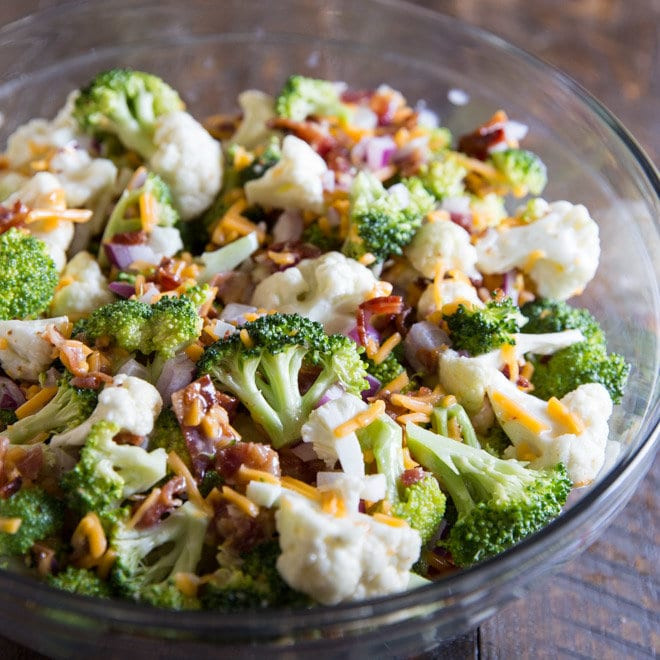 Broccoli Bacon Salad  Broccoli Salad with Bacon and Cheese – Culinary Hill