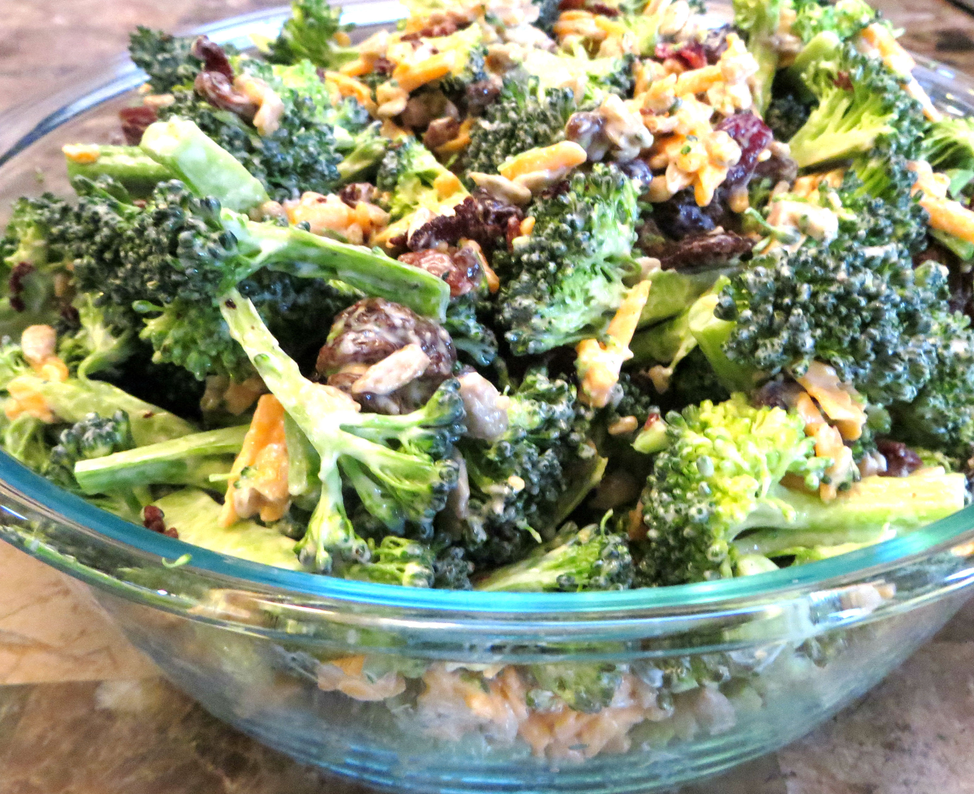 Broccoli Bacon Salad  Broccoli and Kale Salad with Bacon and Cranberries