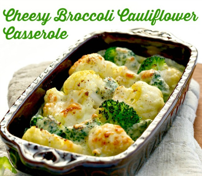 Broccoli Cauliflower Casserole  Cheesy Broccoli Cauliflower Casserole The Wilderness Wife