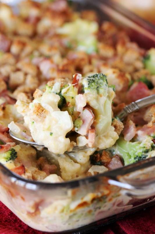 Broccoli Ham Casserole  Ham Broccoli & Cauliflower Casserole The Kitchen is My