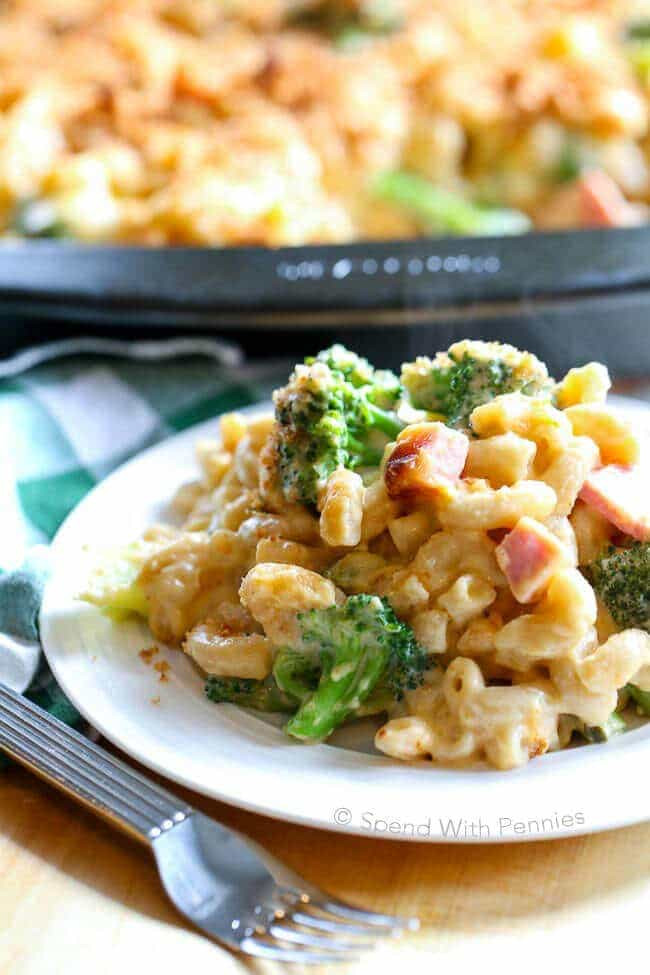 Broccoli Ham Casserole  Broccoli Cheese Casserole with Ham Spend With Pennies