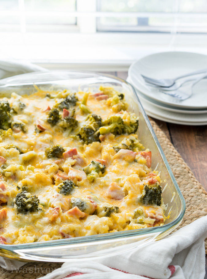 Broccoli Ham Casserole  Cheesy Leftover Ham and Rice Casserole
