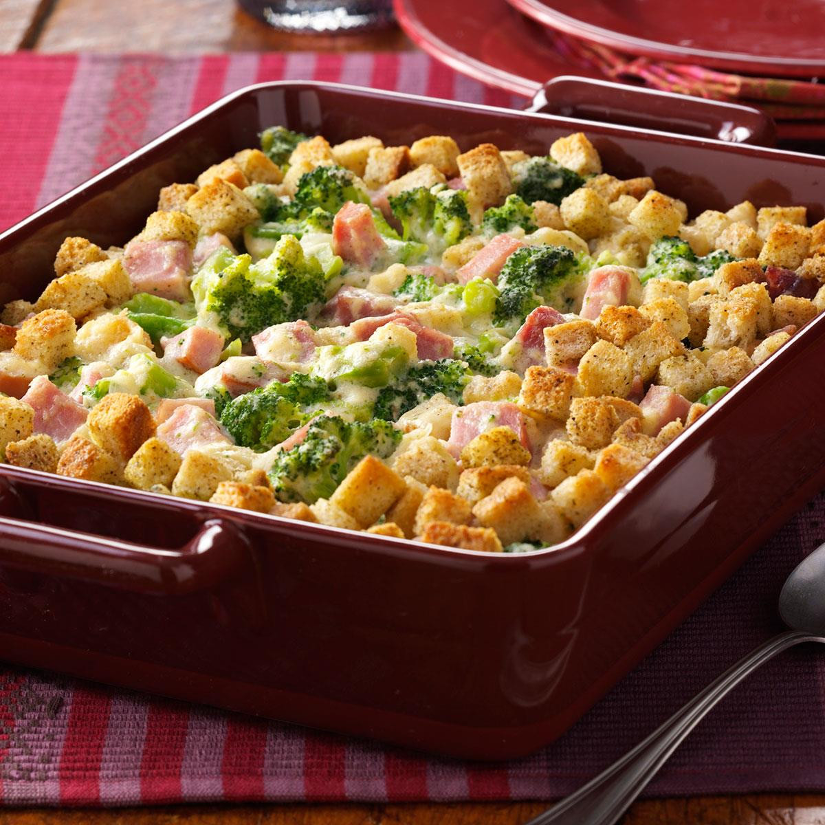 Broccoli Ham Casserole  Broccoli Ham Bake Recipe