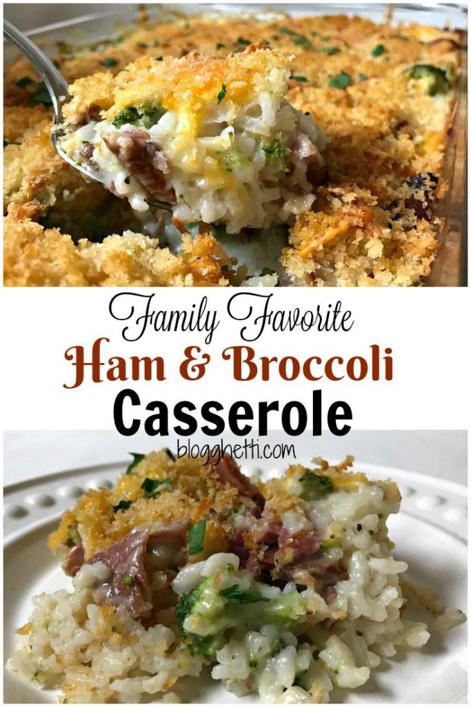 Broccoli Ham Casserole  Family Favorite Ham and Broccoli Casserole
