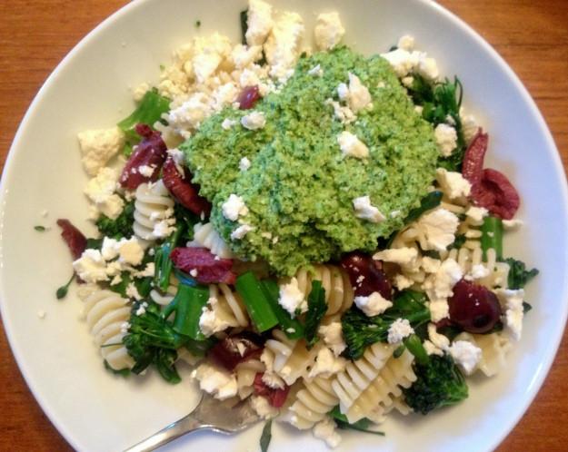 Broccoli Pesto Pasta  Broccoli Pesto Pasta with Olives and Feta