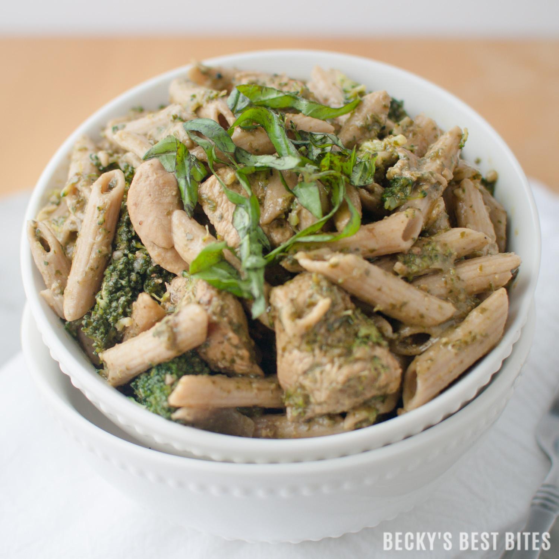 Broccoli Pesto Pasta  Chicken Broccoli Pesto Pasta Toss Becky s Best Bites