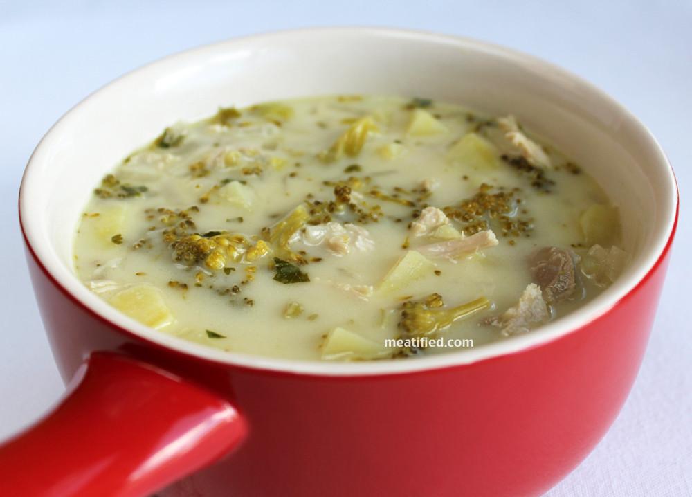 Broccoli Potato Soup  Chicken Soup with Broccoli & Sweet Potato