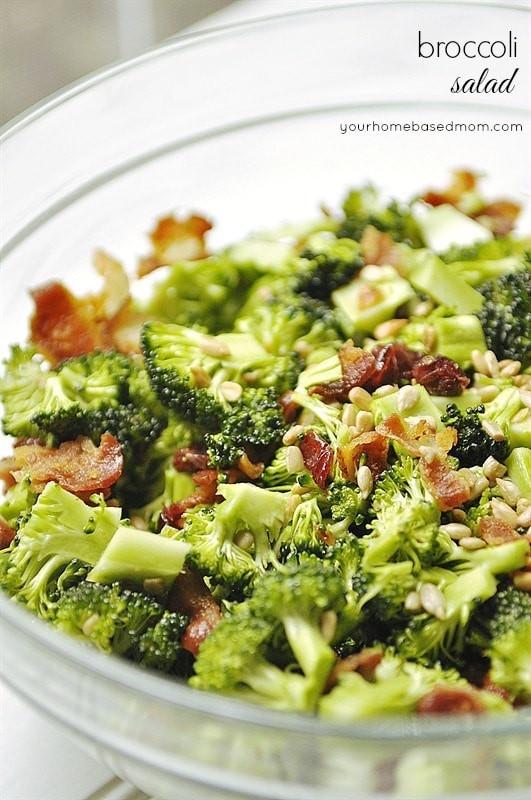 Broccoli Salad No Mayo  Broccoli Salad your homebased mom
