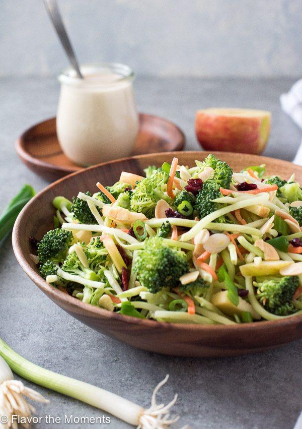 Broccoli Salad No Mayo  Broccoli Slaw Salad with Creamy No Mayo Dressing Flavor
