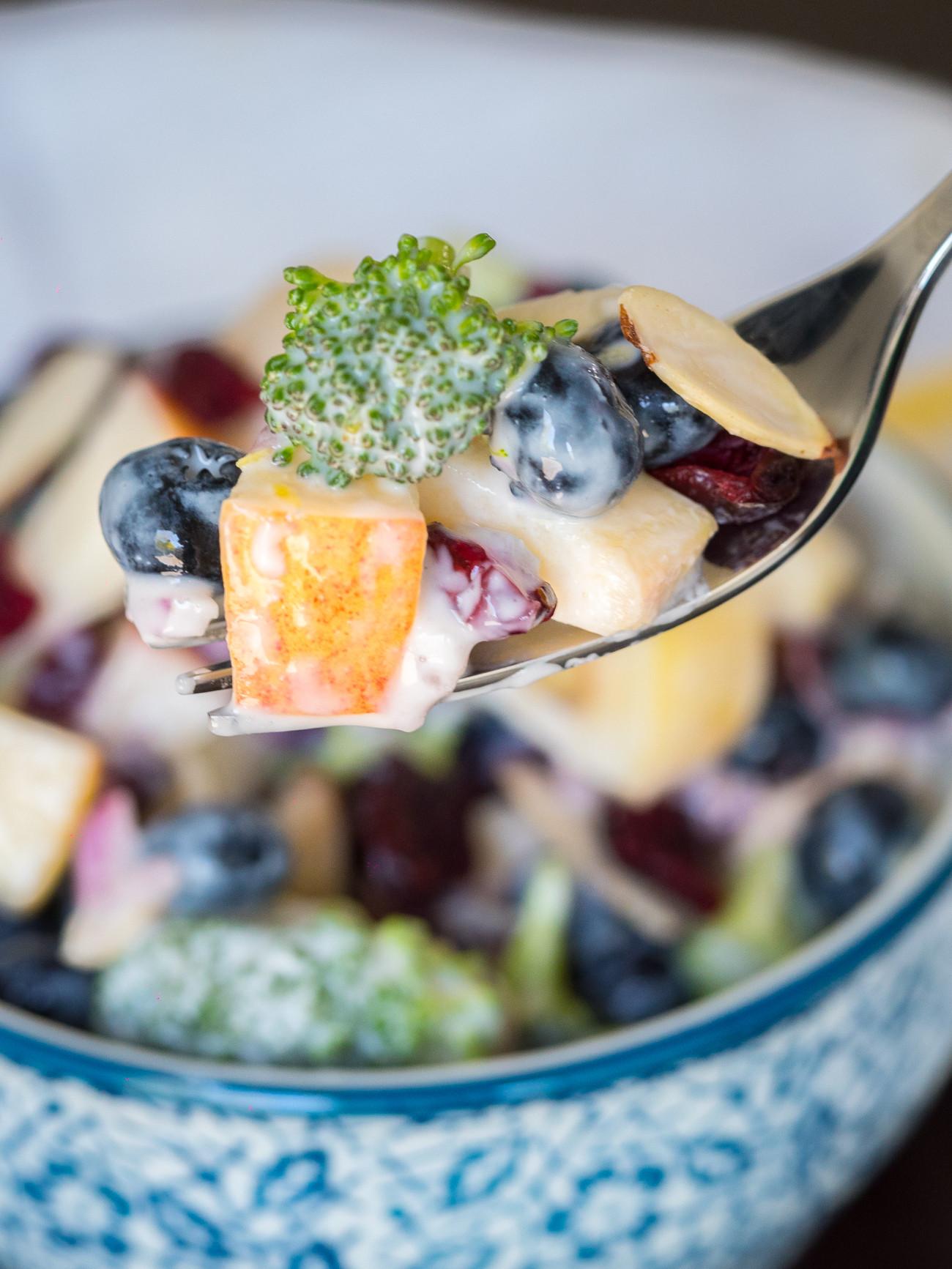 Broccoli Salad No Mayo  No Mayo Broccoli And Blueberry Salad – 12 Tomatoes