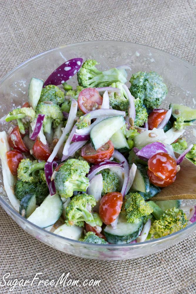 Broccoli Salad No Mayo  healthy broccoli salad recipe no mayo