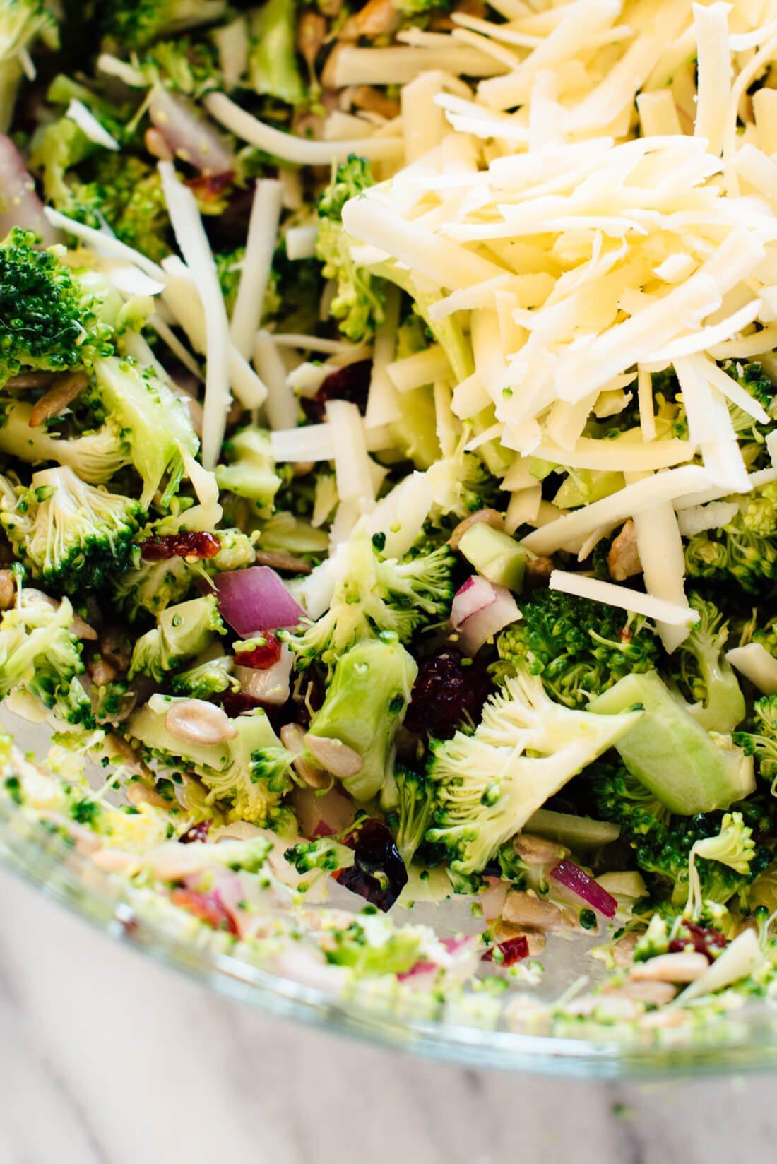 Broccoli Salad No Mayo  Favorite Broccoli Salad Recipe Cookie and Kate