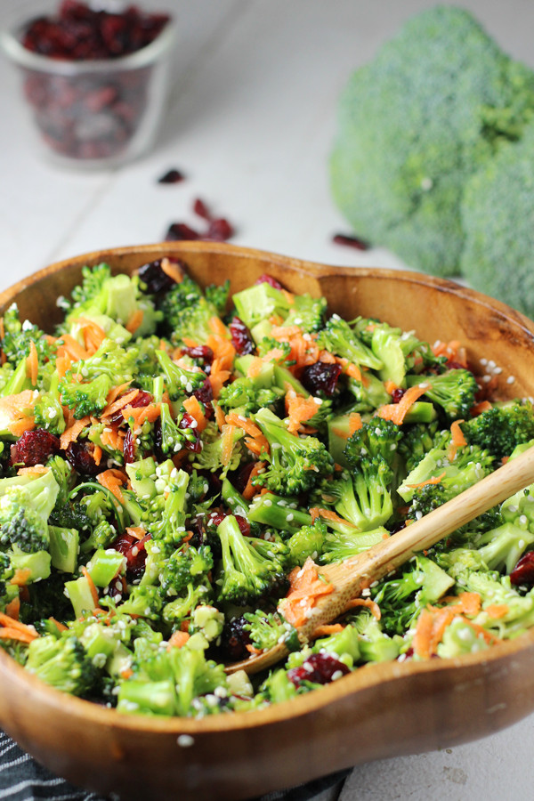 Broccoli Salad No Mayo  Honey Sesame Broccoli Salad Two Ways Worth Cooking