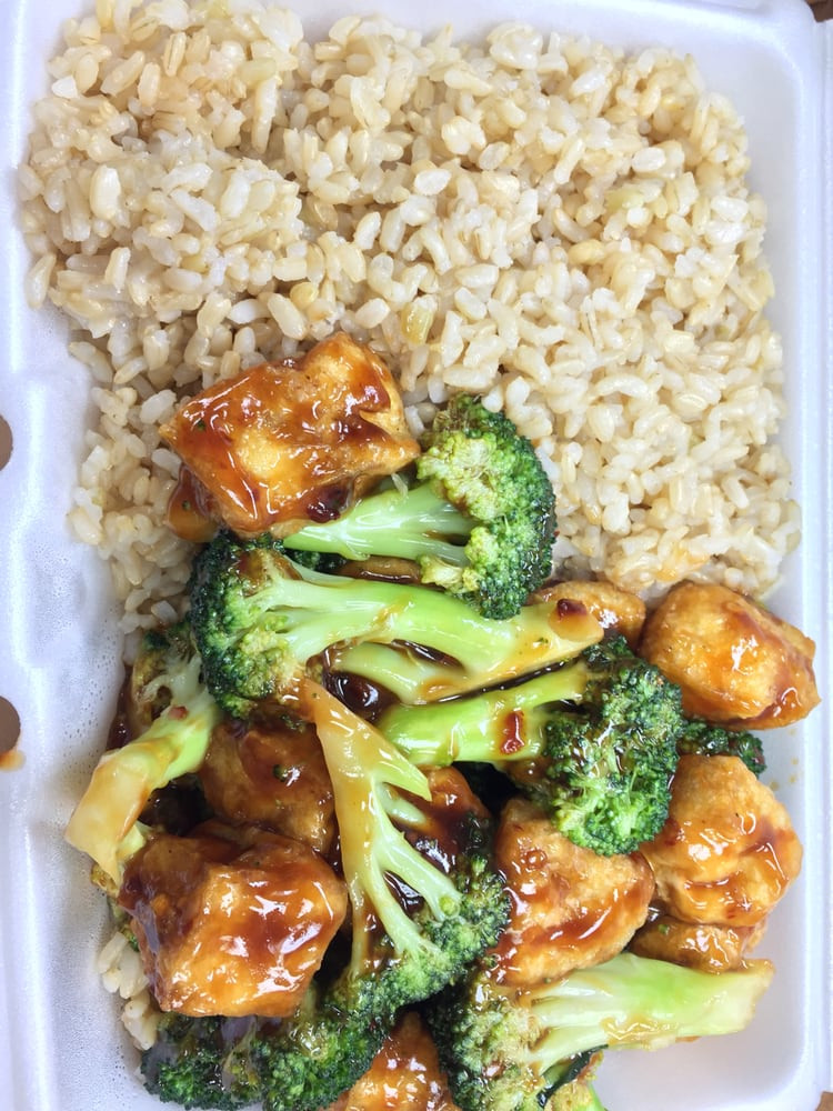 Broccoli With Garlic Sauce  Tofu & Broccoli with Garlic Sauce and Brown Rice Yelp