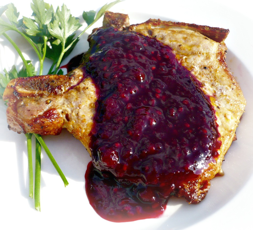Broil Pork Chops  Broiled Pork Chops with Boysenberry Sauce