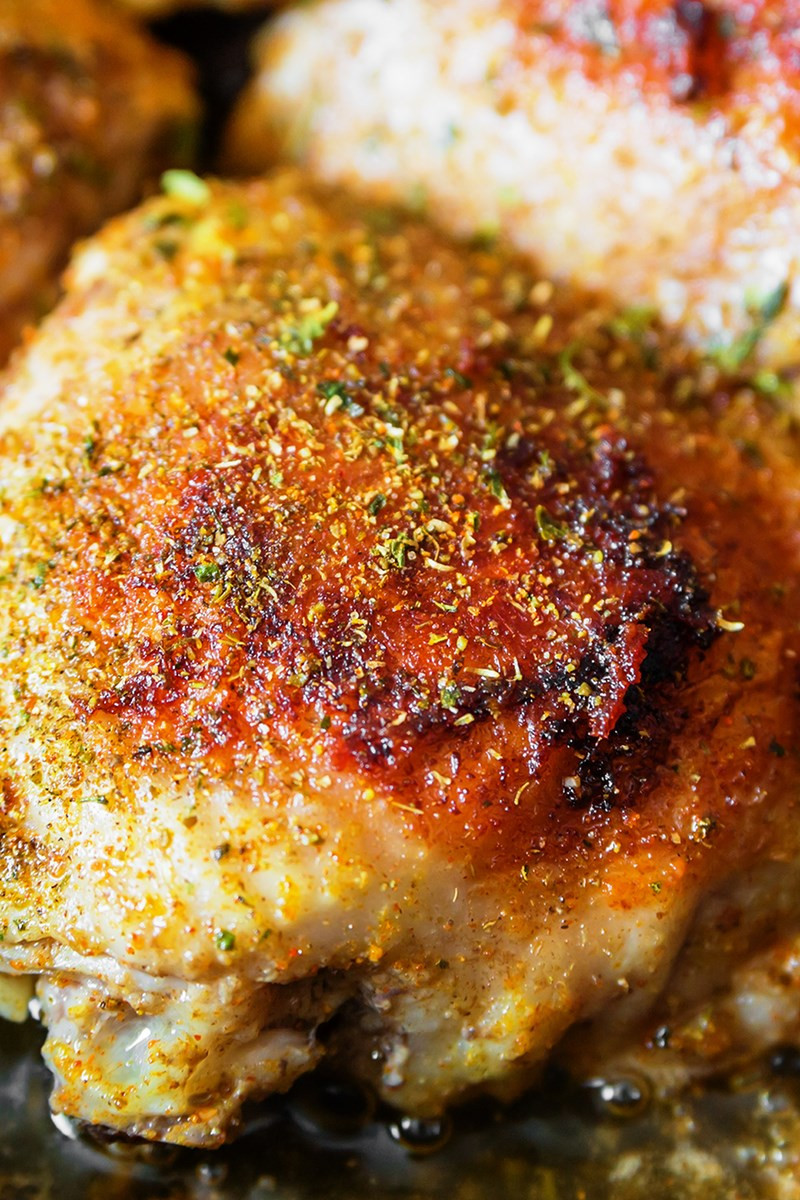 Broiled Chicken Thighs  Easy Garlic Broiled Chicken